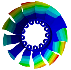 Abbildung 2: 1 Nodal diameter rotor assembly mode